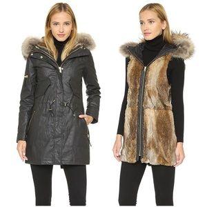 Sam. Fur-Lined Tribeca Parka Vest